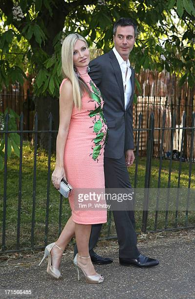 Ty Comfort and Caprice Bourret attend the annual Serpentine Gallery summer party at The Serpentine Gallery on June 26 2013 in London England