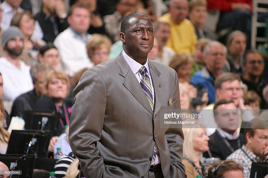 Ty Corbin head coach of the Utah Jazz watches his team play against the Atlantic Hawks at Energy Solutions Arena on February 27, 2013 in Salt Lake City, Utah.