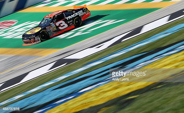 Ty Dillon driver of the Bass Pro Shops Chevrolet drives during practice for the NASCAR Nationwide Series VisitMyrtleBeachcom 300 at Kentucky Speedway...