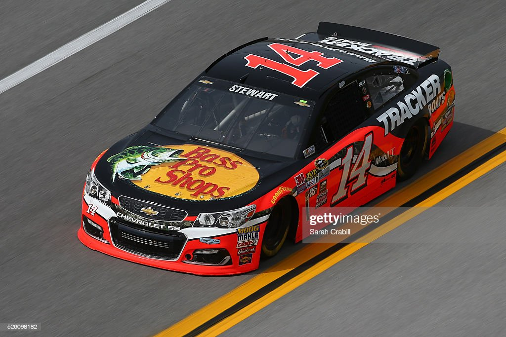 <a gi-track='captionPersonalityLinkClicked' href=/galleries/search?phrase=Ty+Dillon&family=editorial&specificpeople=6312493 ng-click='$event.stopPropagation()'>Ty Dillon</a>, driver of the #14 Bass Pro Shops Chevrolet, practices for the NASCAR Sprint Cup Series GEICO 500 at Talladega Superspeedway on April 29, 2016 in Talladega, Alabama.