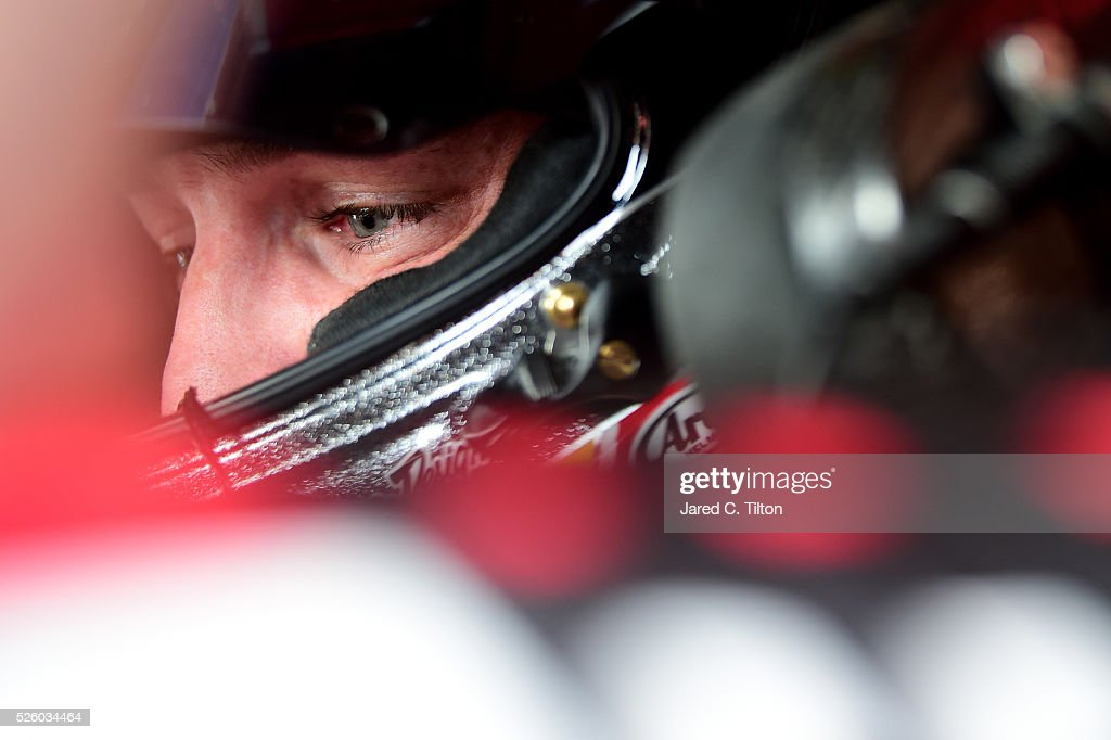 <a gi-track='captionPersonalityLinkClicked' href=/galleries/search?phrase=Ty+Dillon&family=editorial&specificpeople=6312493 ng-click='$event.stopPropagation()'>Ty Dillon</a>, driver of the #3 Bass Pro Shops Chevrolet, sits in his car during practice for the NASCAR XFINITY Series Sparks Energy 300 at Talladega Superspeedway on April 29, 2016 in Talladega, Alabama.