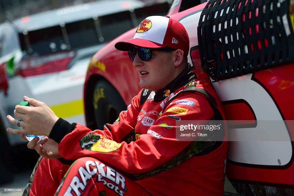 <a gi-track='captionPersonalityLinkClicked' href=/galleries/search?phrase=Ty+Dillon&family=editorial&specificpeople=6312493 ng-click='$event.stopPropagation()'>Ty Dillon</a>, driver of the #3 Bass Pro Shops Chevrolet, sits on the grid during the NASCAR XFINITY Series Sparks Energy 300 at Talladega Superspeedway on April 30, 2016 in Talladega, Alabama.
