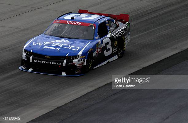 Ty Dillon driver of the WESCO Chevrolet practices for the NASCAR XFINITY Series Buckle Up 200 presented by Click It Or Ticket at Dover International...