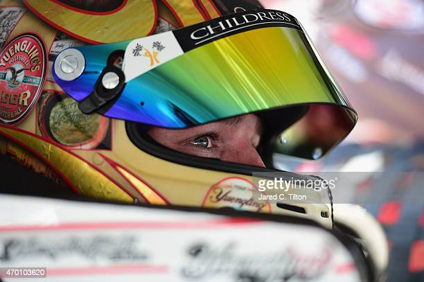 Ty Dillon driver of the Yeungling Light Chevrolet sits in his car during practice for the NASCAR XFINITY Series Drive To Stop Diabetes 300 at Bristol...