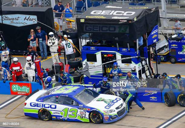 Ty Dillon Germain Racing GEICO Chevrolet SS pits during the running of the Alabama 500 Monster Energy Cup Series race on October 15 2017 at the...