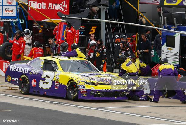 Ty Dillon pits during the Fitzgerald Glider Kits 300 NASCAR Xfinity Series race on April 22 2017 at Bristol Motor Speedway in Bristol TN