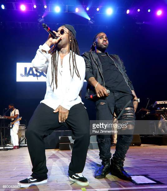 Ty Dolla Sign and Jason Derulo perform onstage at KTUphoria 2017 at Nikon at Jones Beach Theater on June 3 2017 in Wantagh New York