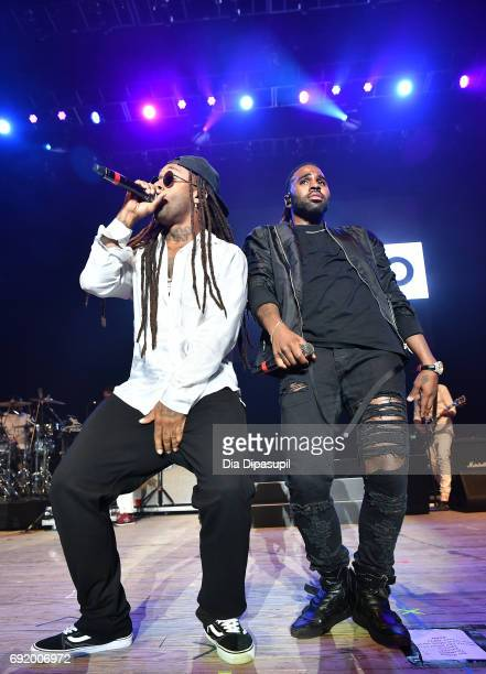 Ty Dolla Sign and Jason Derulo perform onstage during 1035 KTU's KTUphoria 2017 presented by ATT at Northwell Health at Jones Beach Theater on June 3...