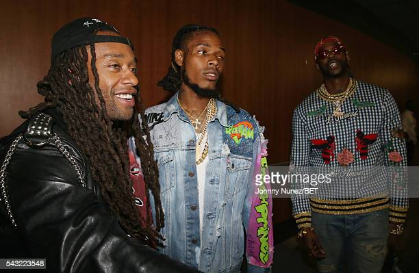 Ty Dolla Sign Fetty Wap and 2Chainz attend the 2016 BET Experience Staples Center Concert Presented by Sprite Performances by LIL WAYNE 2 CHAINZ TORY...