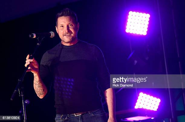 Ty Herndon performs at the Buddy Lee Attractions Showcase during day 2 of the IEBA 2016 Conference on October 10 2016 in Nashville Tennessee