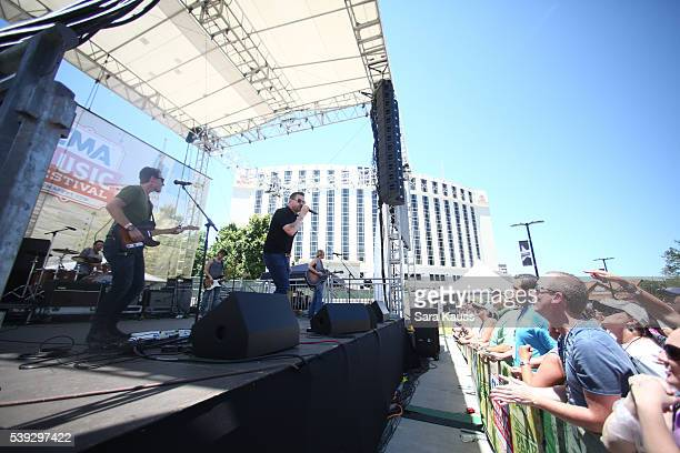 Ty Herndon performs on the Chevrolet Cruze Park Stage at the 2016 CMA Music Fest on June 10 2016 in Nashville Tennessee