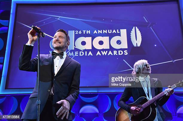 Ty Herndon performs onstage at the 26th Annual GLAAD Media Awards In New York on May 9 2015 in New York City