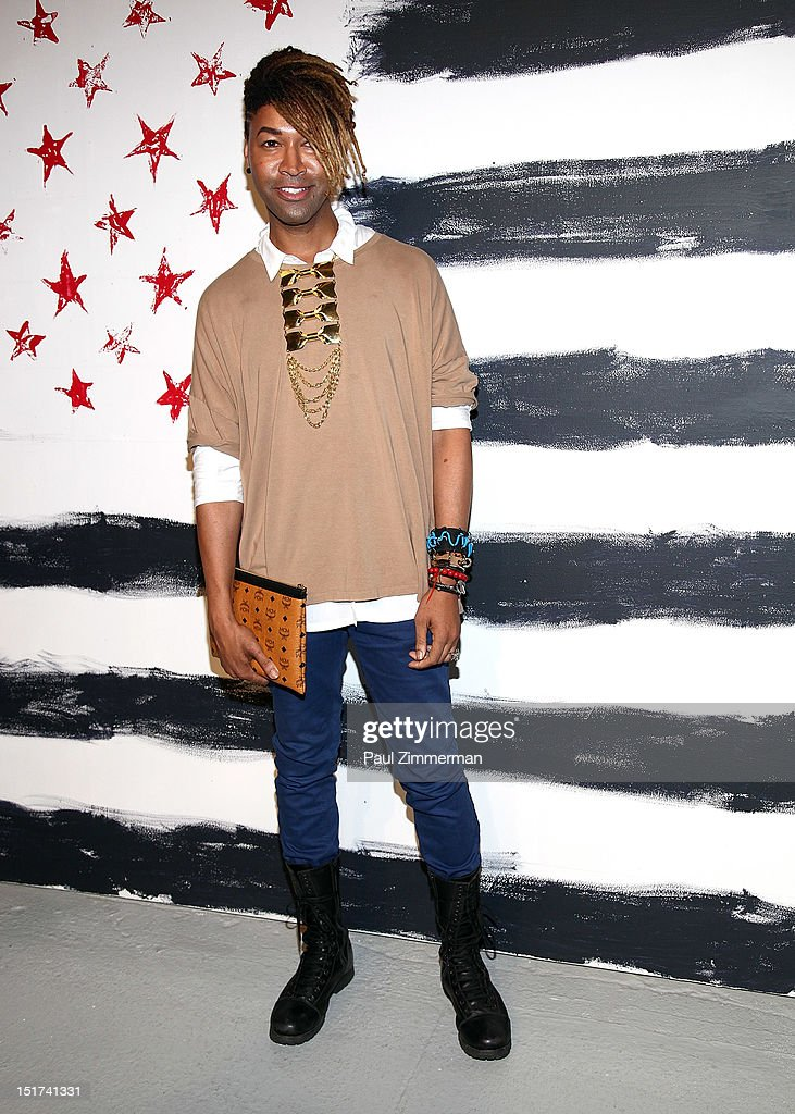 Ty Hunter attends the Alice + Olivia By Stacey Bendet show during Spring 2013 Mercedes-Benz Fashion Week at Century 548 on September 10, 2012 in New York City.