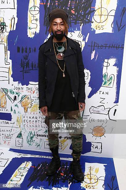 Ty Hunter attends the alice olivia x Basquiat CFDA Capsule Collection launch party on November 2 2016 in New York City