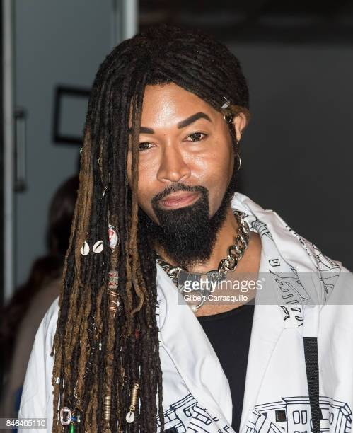 Ty Hunter is seen arriving at Alice Olivia By Stacey Bendet fashion show during September 2017 New York Fashion Week The Shows at Gallery 2 Skylight...