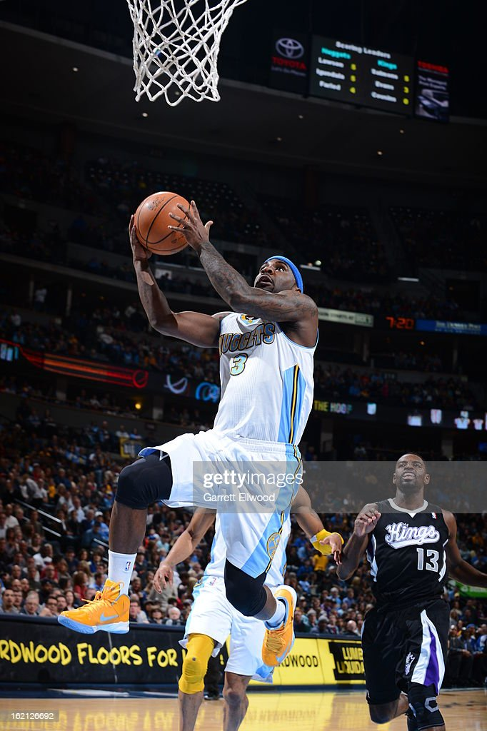<a gi-track='captionPersonalityLinkClicked' href=/galleries/search?phrase=Ty+Lawson&family=editorial&specificpeople=4024882 ng-click='$event.stopPropagation()'>Ty Lawson</a> #3 of the Denver Nuggets drives to the basket against the Sacramento Kings on January 26, 2013 at the Pepsi Center in Denver, Colorado.