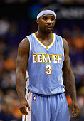 Ty Lawson of the Denver Nuggets during the NBA game against the Phoenix Suns at US Airways Center on November 26 2014 in Phoenix Arizona The Suns...