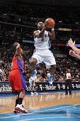 Ty Lawson of the Denver Nuggets goes to the basket against the Los Angeles Clippers on January 21 2010 at the Pepsi Center in Denver Colorado NOTE TO...
