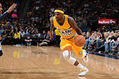 Ty Lawson of the Denver Nuggets handles the ball against the Memphis Grizzlies on January 3 2015 at Pepsi Center in Denver Colorado NOTE TO USER User...