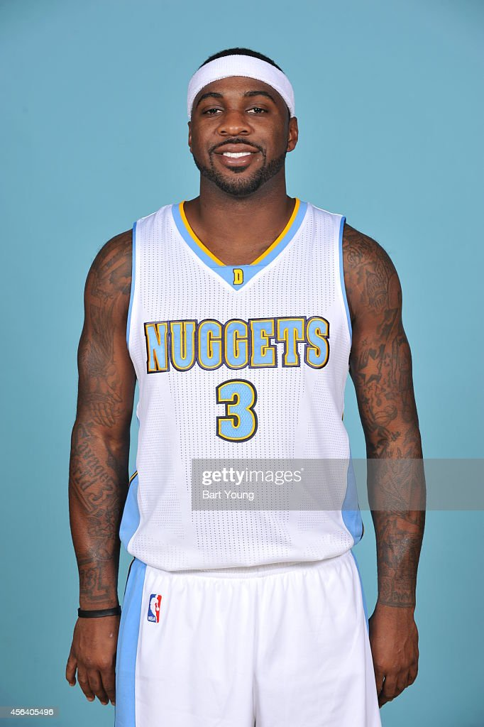 Ty Lawson of the Denver Nuggets pose for portraits during NBA Media Day on September 23 2014 at the Pepsi Center in Denver Colorado NOTE TO USER User...
