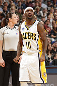 Ty Lawson of the Indiana Pacers is seen during the game against the San Antonio Spurs on March 7 2016 at Bankers Life Fieldhouse in Indianapolis...