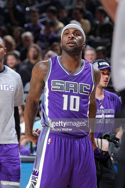 Ty Lawson of the Sacramento Kings looks on during the game against the Oklahoma City Thunder on November 23 2016 at Golden 1 Center in Sacramento...