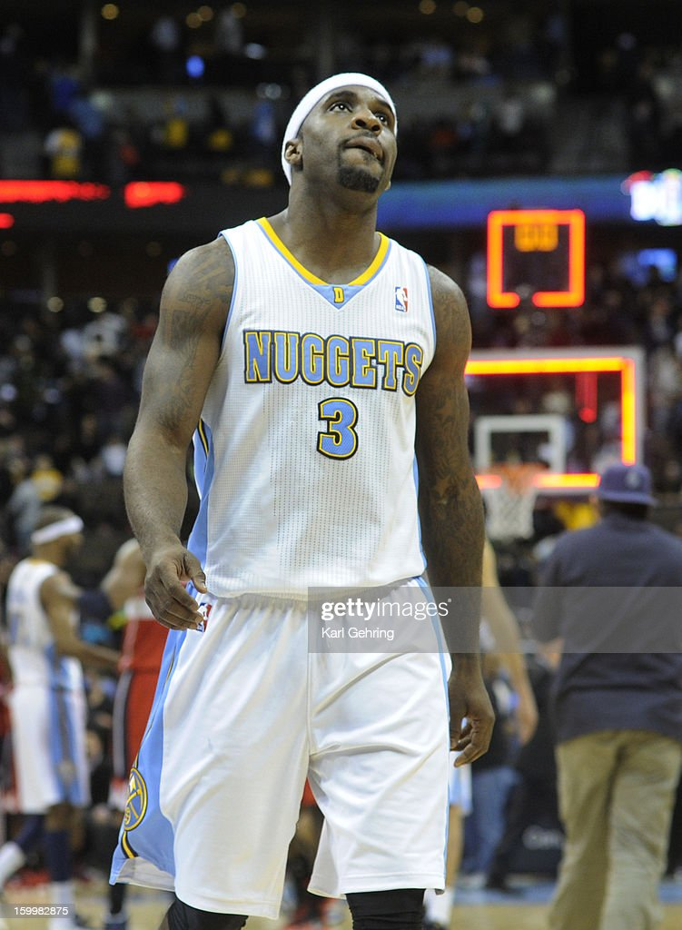 Ty Lawson showed his disappointment at the end of the game. The Washington Wizards defeated the Denver Nuggets 112-108 at the Pepsi Center Friday night, January 18, 2013. Karl Gehring/The Denver Post via Getty Images