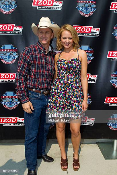 Ty Murray and Jewel Kilcher attend the 94th Indianapolis 500 at the Indianapolis Motor Speedway on May 30 2010 in Indianapolis Indiana