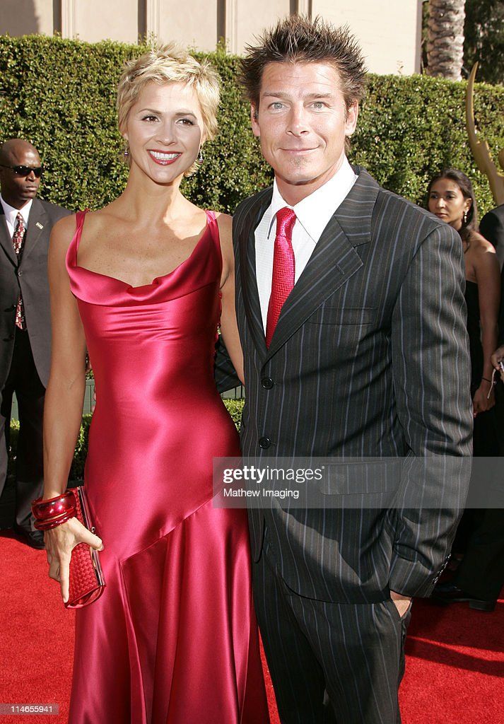 Ty Pennington and guest during 57th Annual Primetime Creative Arts EMMY Awards - Arrivals & Red Carpet at Shrine Auditorium in Los Angeles, California, United States.