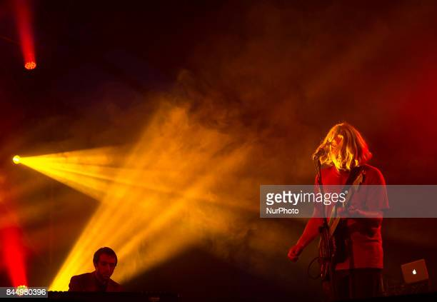 Ty Segall performs on stage during Ebrovision Music Festival on August 31 2017 in Miranda de Ebro Spain