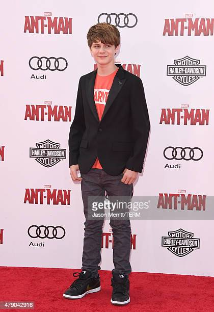 Ty Simpkins arrives at the Los Angeles Premiere of Marvel Studios 'AntMan' at Dolby Theatre on June 29 2015 in Hollywood California