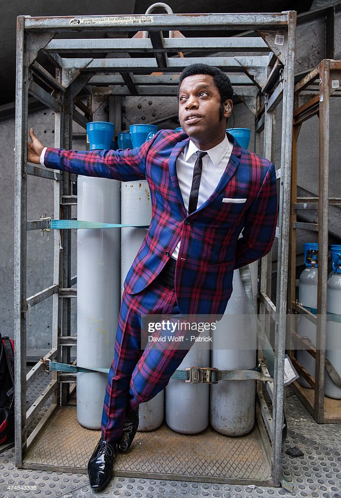 Ty Taylor from Vintage Trouble poses at Stade de France on May 23, 2015 in Paris, France.