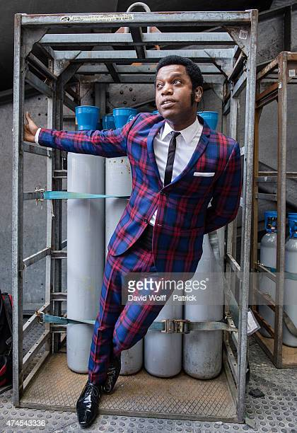 Ty Taylor from Vintage Trouble poses at Stade de France on May 23 2015 in Paris France