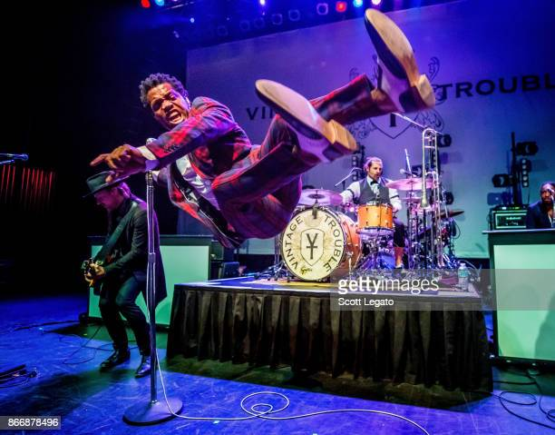Ty Taylor of Vintage Trouble performs at The Fillmore on October 26 2017 in Detroit Michigan