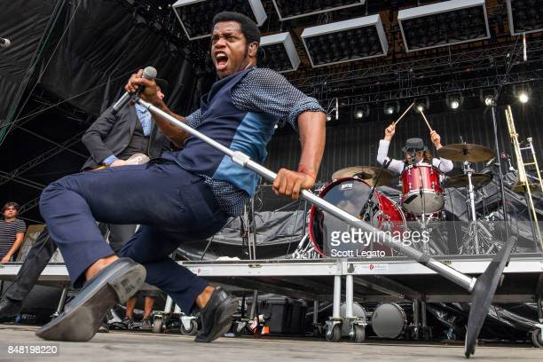Ty Taylor of Vintage Trouble performs during Day 1 of Music Midtown at Piedmont Park on September 16 2017 in Atlanta Georgia
