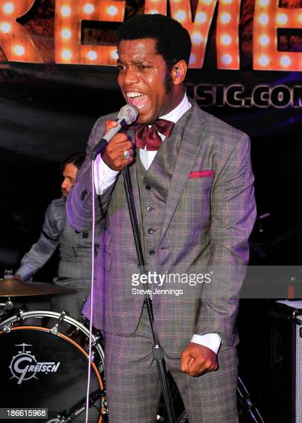 Ty Taylor of Vintage Trouble performs on Day 1 of Live In The Vineyard at Copia event on November 1 2013 in Napa California