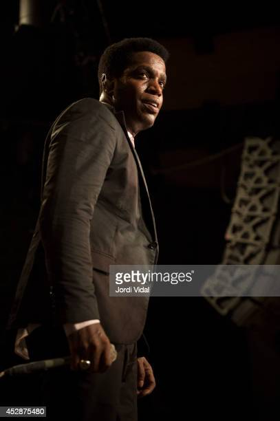 Ty Taylor of Vintage Trouble performs on stage at Bikini on July 28 2014 in Barcelona Spain
