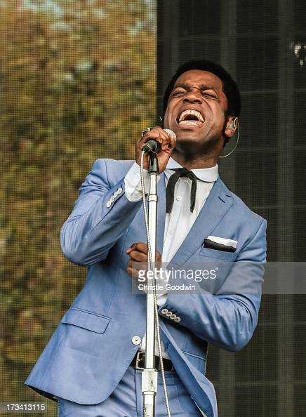 Ty Taylor of Vintage Trouble performs on stage at British Summer Time Festival at Hyde Park on July 13 2013 in London England