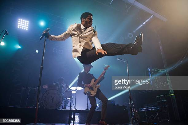 Ty Taylor of Vintage Trouble performs on stage at Razzmatazz on December 10 2015 in Barcelona Spain
