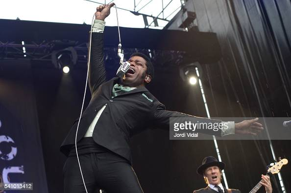 Ty Taylor of Vintage Trouble performs on stage during Azkena Rock Festival Day 1 at Mendizabala on June 17 2016 in VitoriaGasteiz Spain