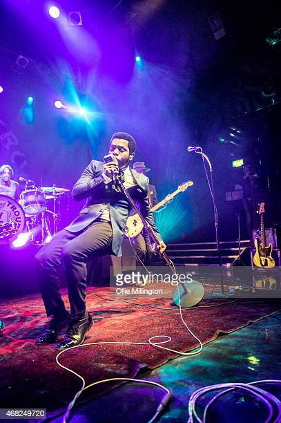 Ty Taylor of Vintage Trouble performs on stage during the bands sold out show at KOKO on March 31 2015 in London United Kingdom