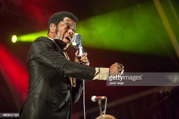 Ty Taylor of Vintage Trouble performs on stage during the first day of Cruilla Festival at Parc Del Forum on July 10 2015 in Barcelona Spain