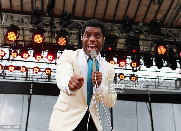 Ty Taylor of Vintage Trouble performs onstage at Which Stage during day 2 of the 2014 Bonnaroo Arts And Music Festival on June 13 2014 in Manchester...