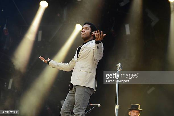 Ty Taylor of Vintage Trouble supporting AC/DC at Aviva Stadium on July 1 2015 in Dublin Ireland