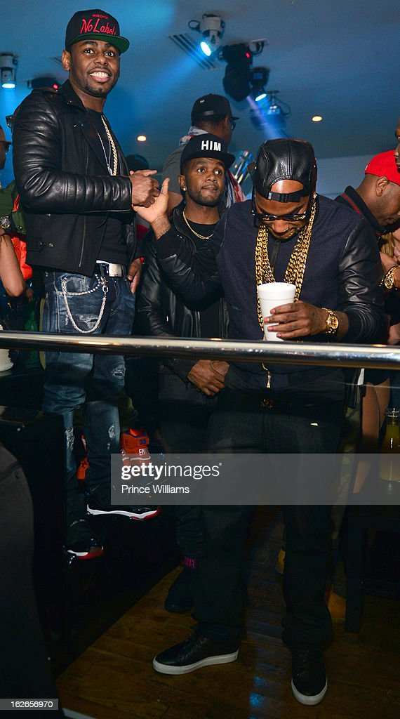 Ty Ty and Young Jeezy attend the So So Def anniversary party hosted by Jay Z at Compound on February 23, 2013 in Atlanta, Georgia.