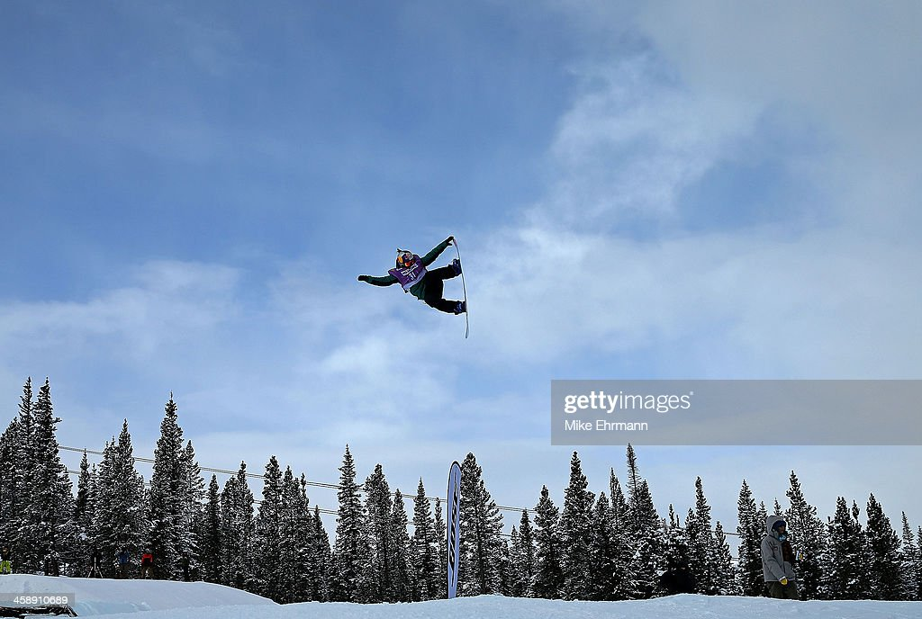 <a gi-track='captionPersonalityLinkClicked' href=/galleries/search?phrase=Ty+Walker+-+Snowboarder&family=editorial&specificpeople=12441401 ng-click='$event.stopPropagation()'>Ty Walker</a> competes during finals for the womens FIS Snowboard Slopestyle World Cup at U.S. Snowboarding and Freeskiing Grand Prix on December 22, 2013 in Copper Mountain, Colorado.