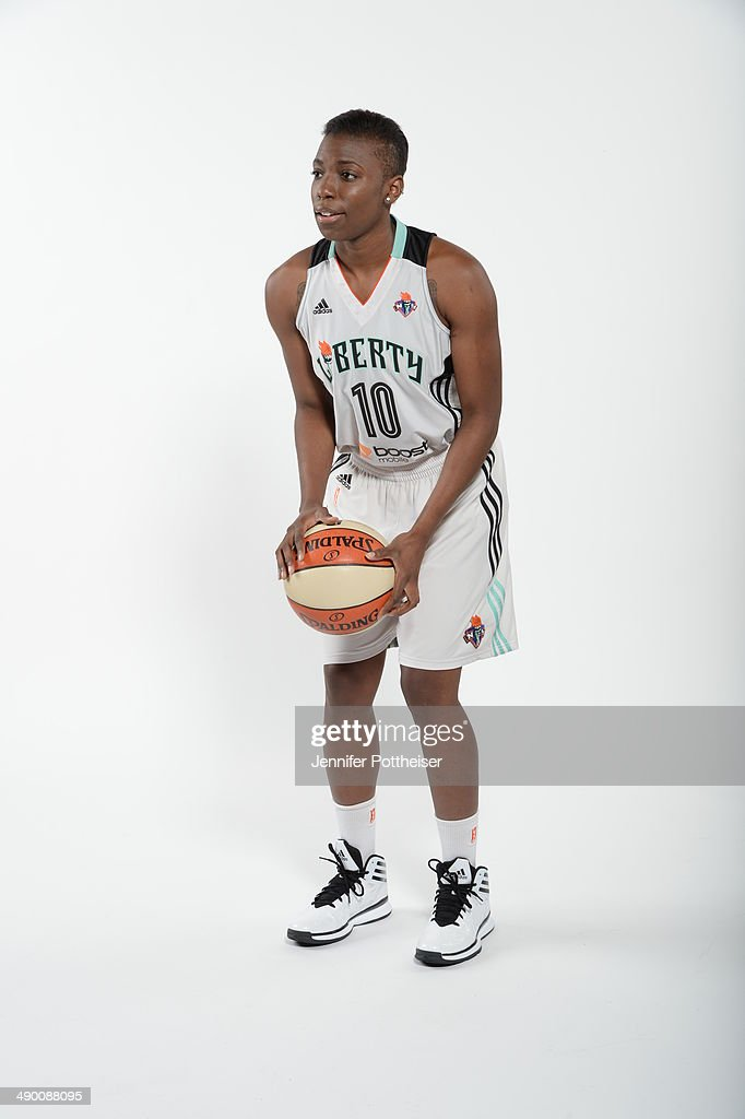 Tyaunna Marshall of the New York Liberty poses for a portrait during 2014 WNBA Media Day at the MSG Training Facility on May 12, 2014 in Tarrytown, New York.