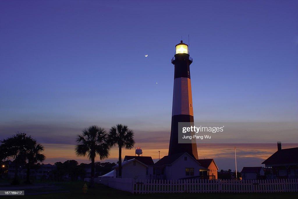 Tybee Island Lighthouse at Dusk