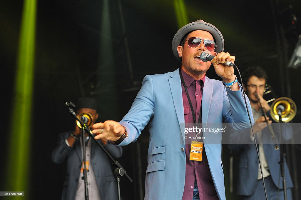 Tyber Cranstoun of The Dualers performs on stage at Cornbury Music Festival at Great Tew Estate on July 5, 2014 in Oxford, United Kingdom.