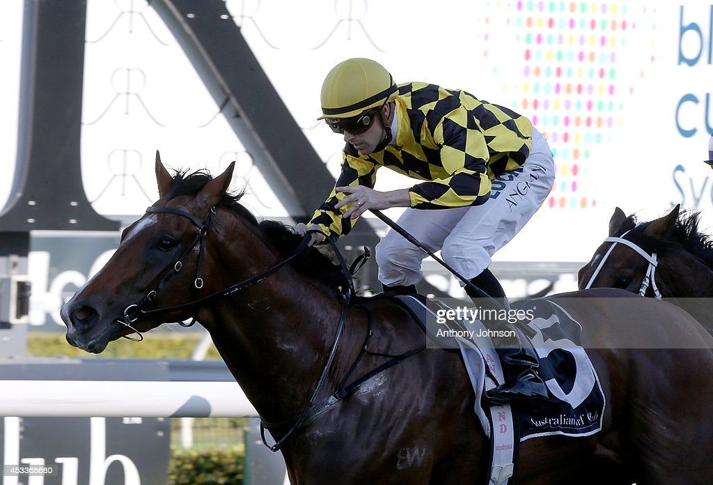 Tye Angland rides Scissor Kick during Sydney Racing at Royal Randwick Racecourse on August 9, 2014 in Sydney, Australia.